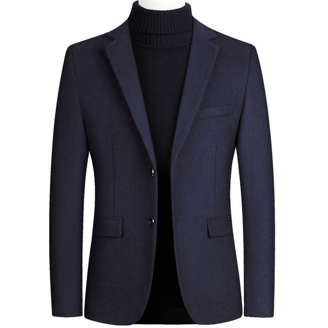 Шерстяной мужской пиджак из качественного материала фирменный Favocent 5