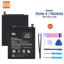 Xiaomi Redmi Note 4 Аккумулятор BN41 4100 мАч для Hongmi Note 4/Redmi Note 4X MTK Helio X20 Высококачественный аккумулятор BN41