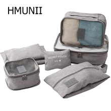 HMUNII Packing Organizers Clothing Cubes Shoe Bags Laundry Pouches For Travel Su