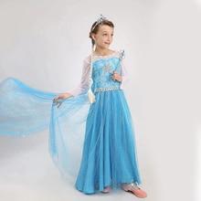 Kids Girls Costume Princess Elsa Dress Christmas Clothing