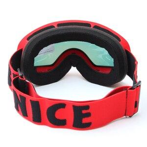 Image 4 - ילדי סקי משקפי UV400 אנטי ערפל כפול שכבות סקי מסכת משקפיים סנובורד החלקה Windproof משקפי שמש ילדים סקי משקפי