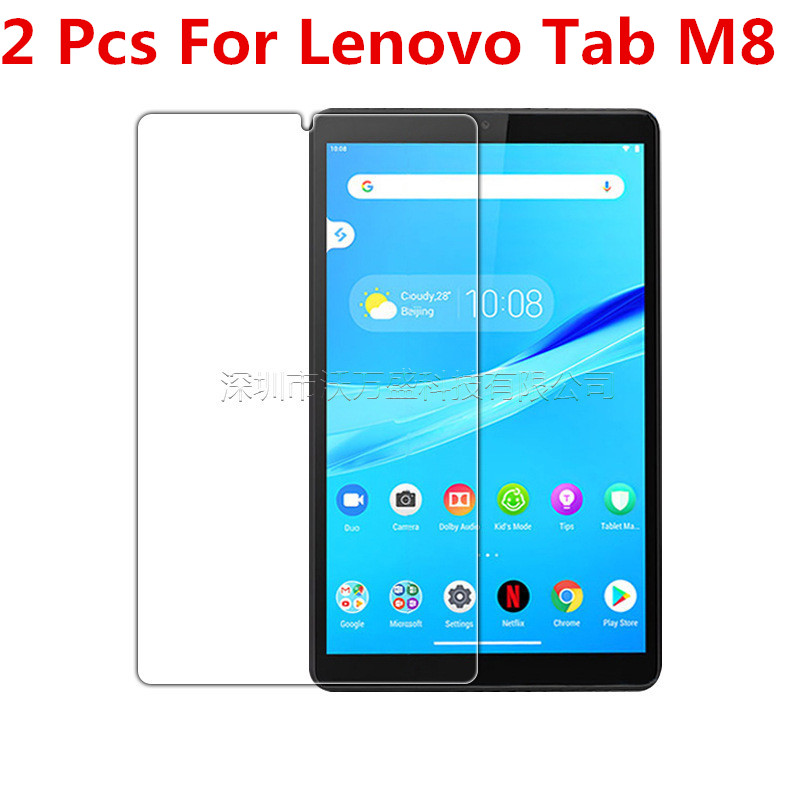 2 Pcs 9H Full Cover Tablet Tempered Glass For Lenovo Tab  M8 TB-8505F TB-8505X 8.0 Inch Glass Film