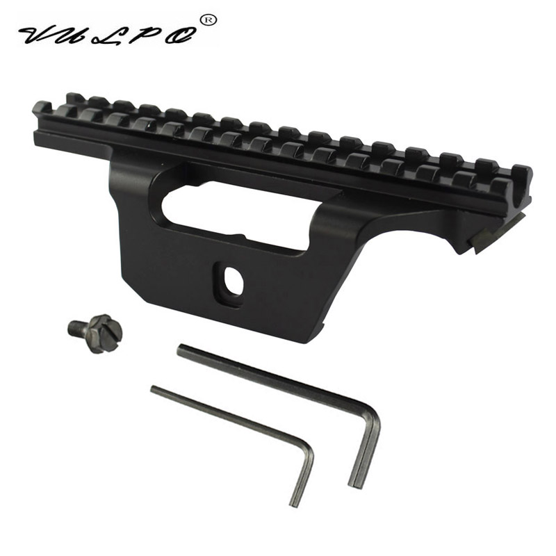 VULPO Hunting Airsoft 20mm Picatinny Rail Mount Tactical Scope Mount For  M1A M14 AK47 .308 Rifles Airsoft AEG