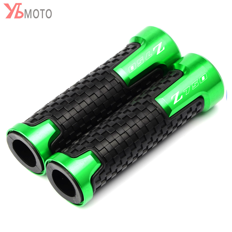 Motorcycle Hand Grips Handle Bar Handlebar Grip Accessories For Kawasaki Z750 Z 750 Z750R Z750S 2008 2009 2010 2011 2012 2013 image