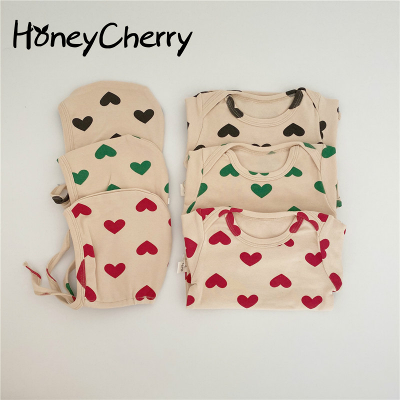 Baby Girl Bodysuits Infants Home Service Triangle Climbing Clothes Lovely Pajamas Baby Romper With Hat Little Girls Clothing