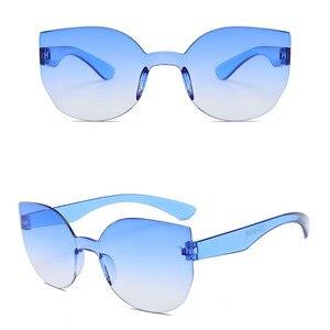 Image 2 - TTLIFE 새로운 패션 여성 고양이 눈 선글라스 럭셔리 브랜드 디자이너 태양 안경 캔디 컬러 미러 안경 Oculos 드 솔 YJHH0207