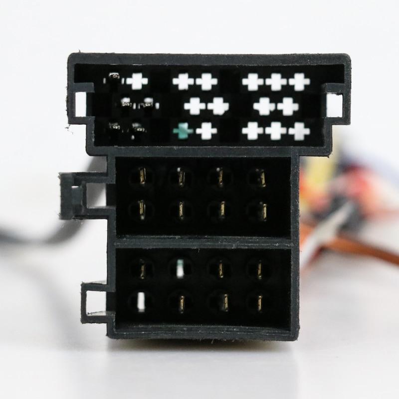 Chicote de fios 16pin do reprodutor de rádio do andróide dos meios do carro para a série de volkswagen/para o cabo de alimentação de opel