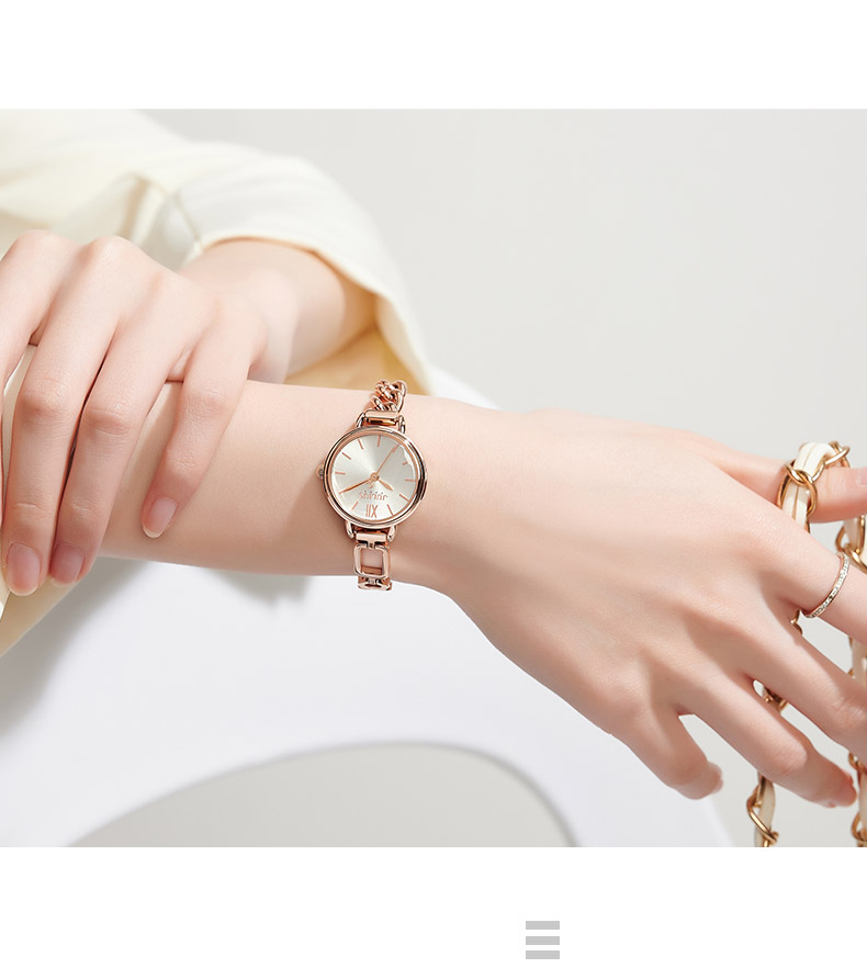 t horas elegante strass moda relógio de
