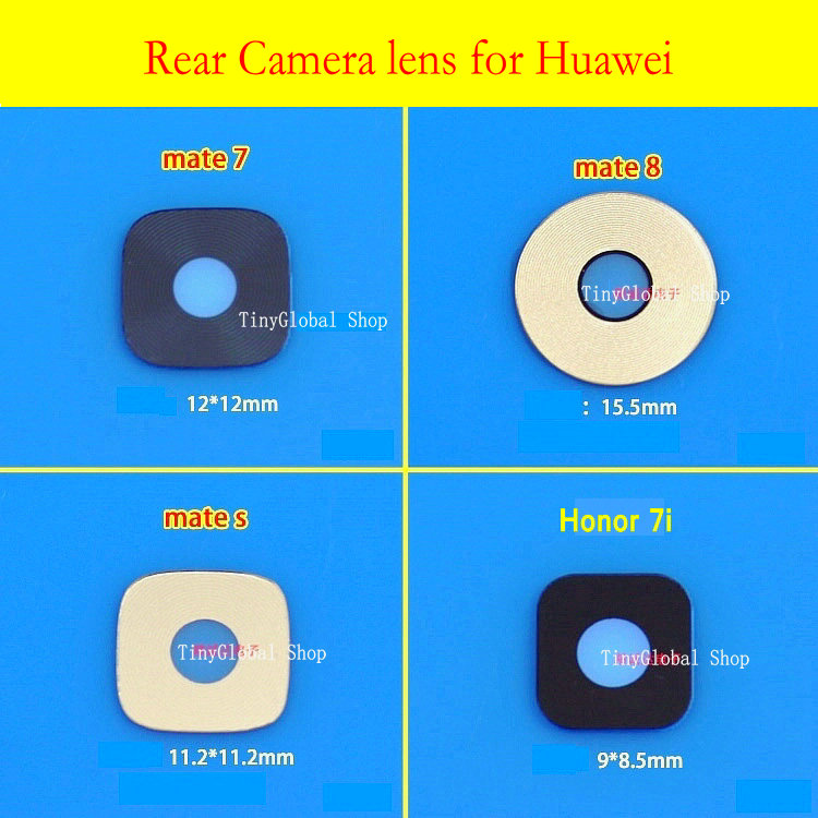2pcs/lot Coopart Rear Camera Glass Lens & Adhesive Sticker For Huawei Mate 7 Mate 8 Mate S Honor 7i Honor 7
