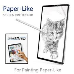 Papier  taki jak folia zabezpieczająca ekran matowy PET Anti Glare malarstwo dla Apple iPad 9.7 Pro 10.5 face id 11 12.9 cal 2016 2017 2018 w Ochraniacze ekranu do tabletów od Komputer i biuro na