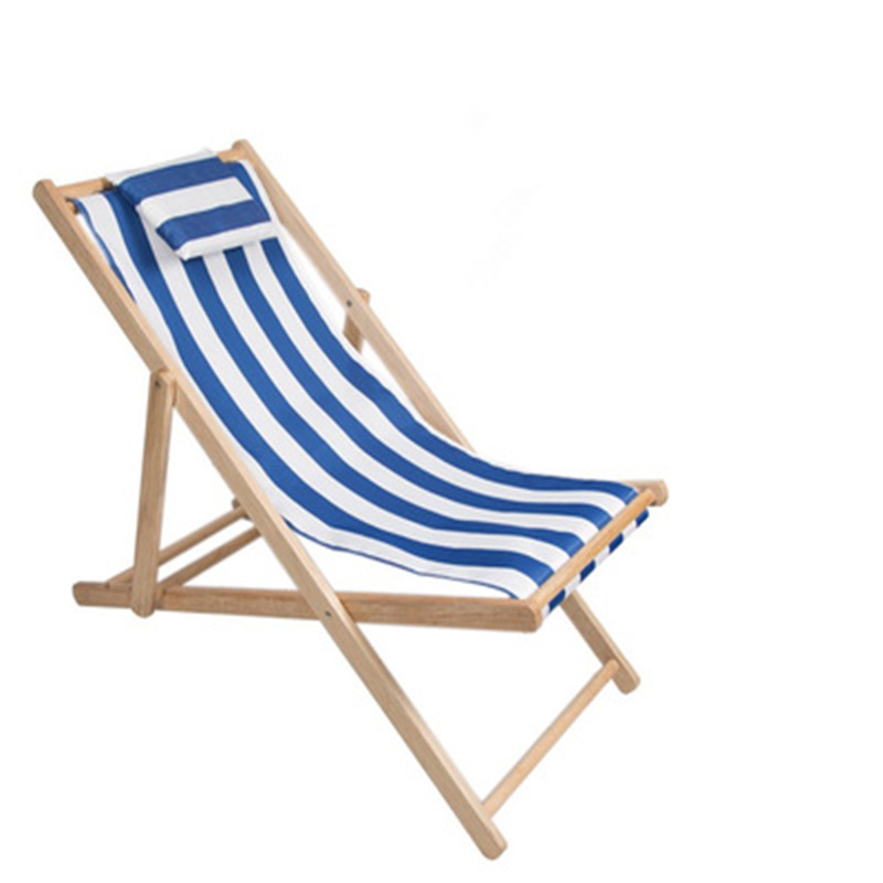 Sdraio Da Spiaggia Legno.In Legno Massello Pieghevole Spiaggia Sedia A Sdraio Portatile All