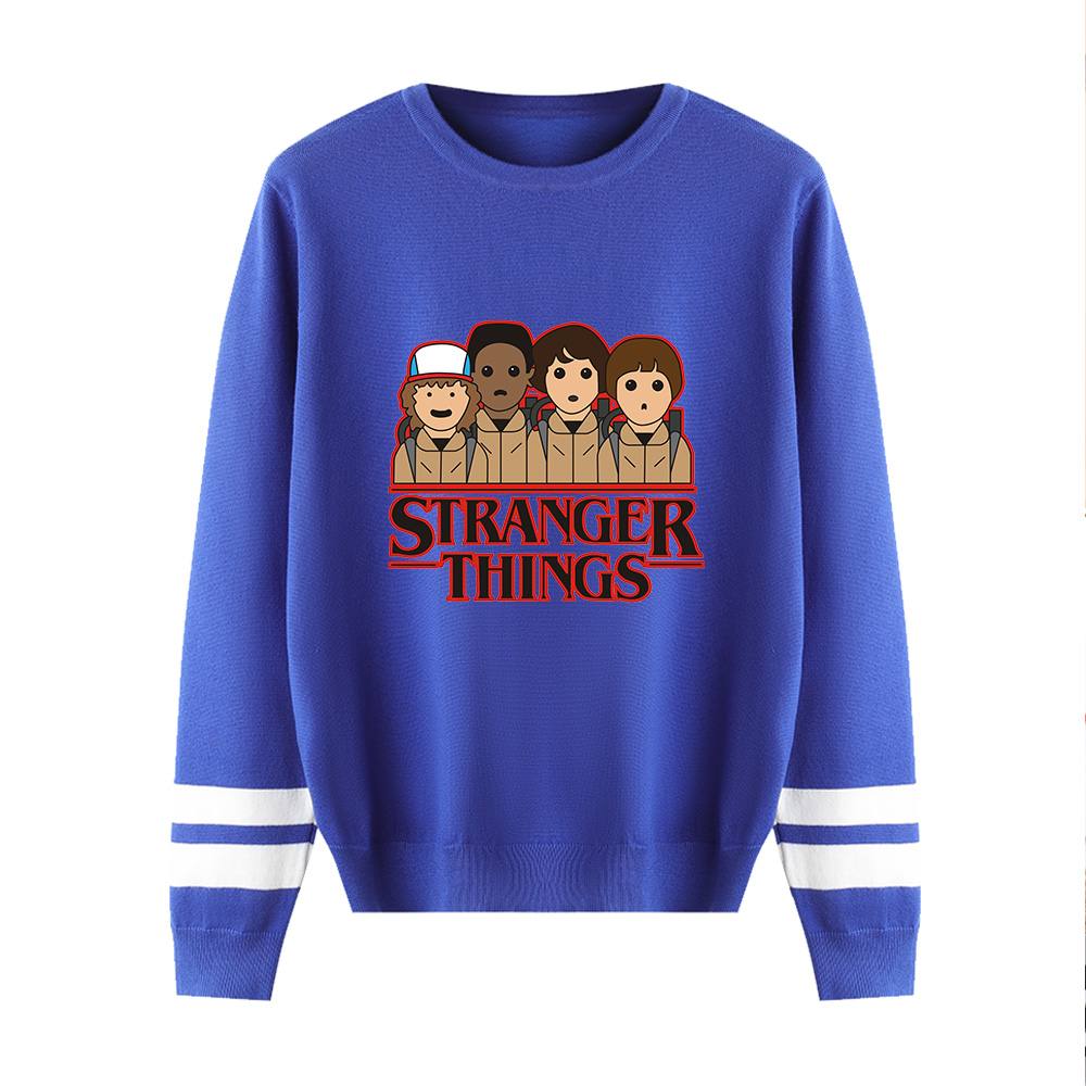 Stranger Things Capless Hoody Men/women Autumn Winter New Fashion Blue Long Sleeve Warm Casual Knitted Casual Sweater Tops