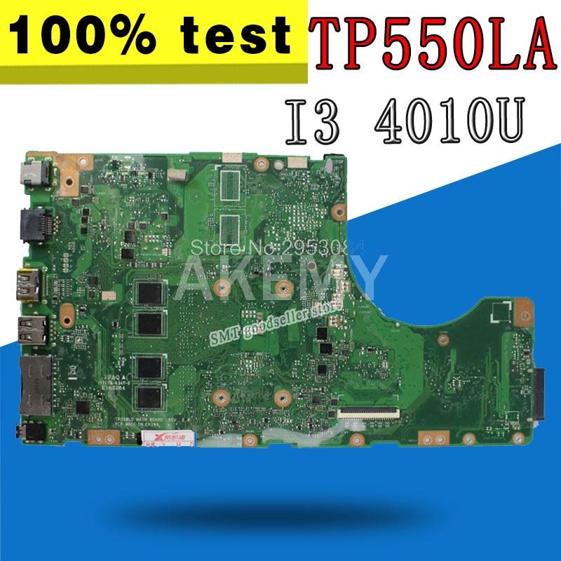 Original TP550LA For Asus Laptop motherboard TP550LD REV2.0 I3 4010 Integrated DDR3L onboard 4GB of memory Motherboard S-4