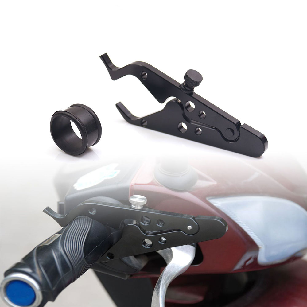 Universal Motorcycle Throttle Clamp Aluminum Rubber Cruise Motorbike Throttle Control Lock Hand Grips Assist Part High Quality