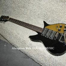 Черный 3 звукоснимателя электрогитара с bigbys OEM Китай гитары высокого качества