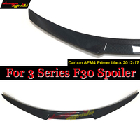 For BMW F30 rear trunk spoiler car wing M4 style carbon fiber 3 series 318d 320i 320d 325d 328i 330d 335i 335d f80 M3 2012 2017