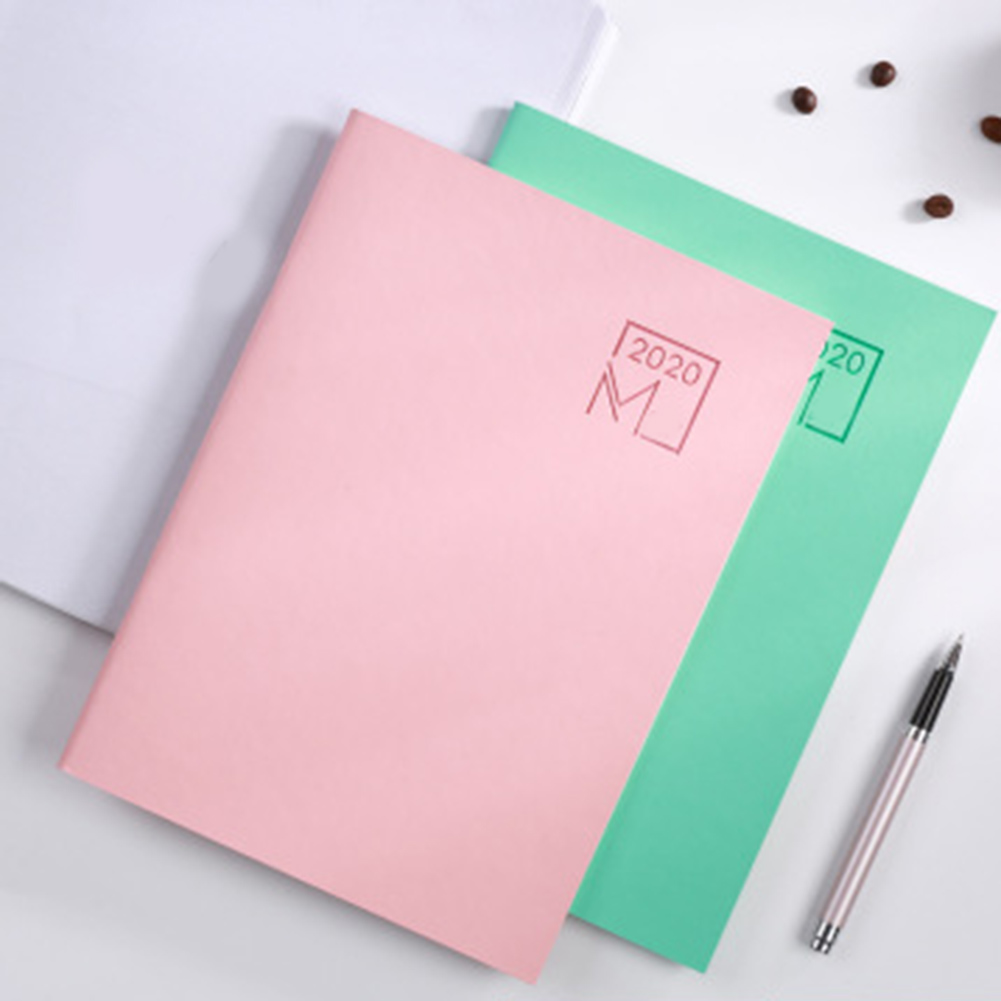 Notebook 2020 Agenda Planner Diary Meeting Book Girl School Stationery Monthly Plan Supplies PUO88