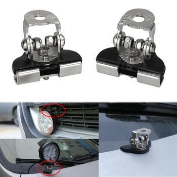 2 Pcs/Set Stainless Steel  Car hood headlight bracket Pillar Hood Mount Rotatable Bracket  Headlight holder support accessories