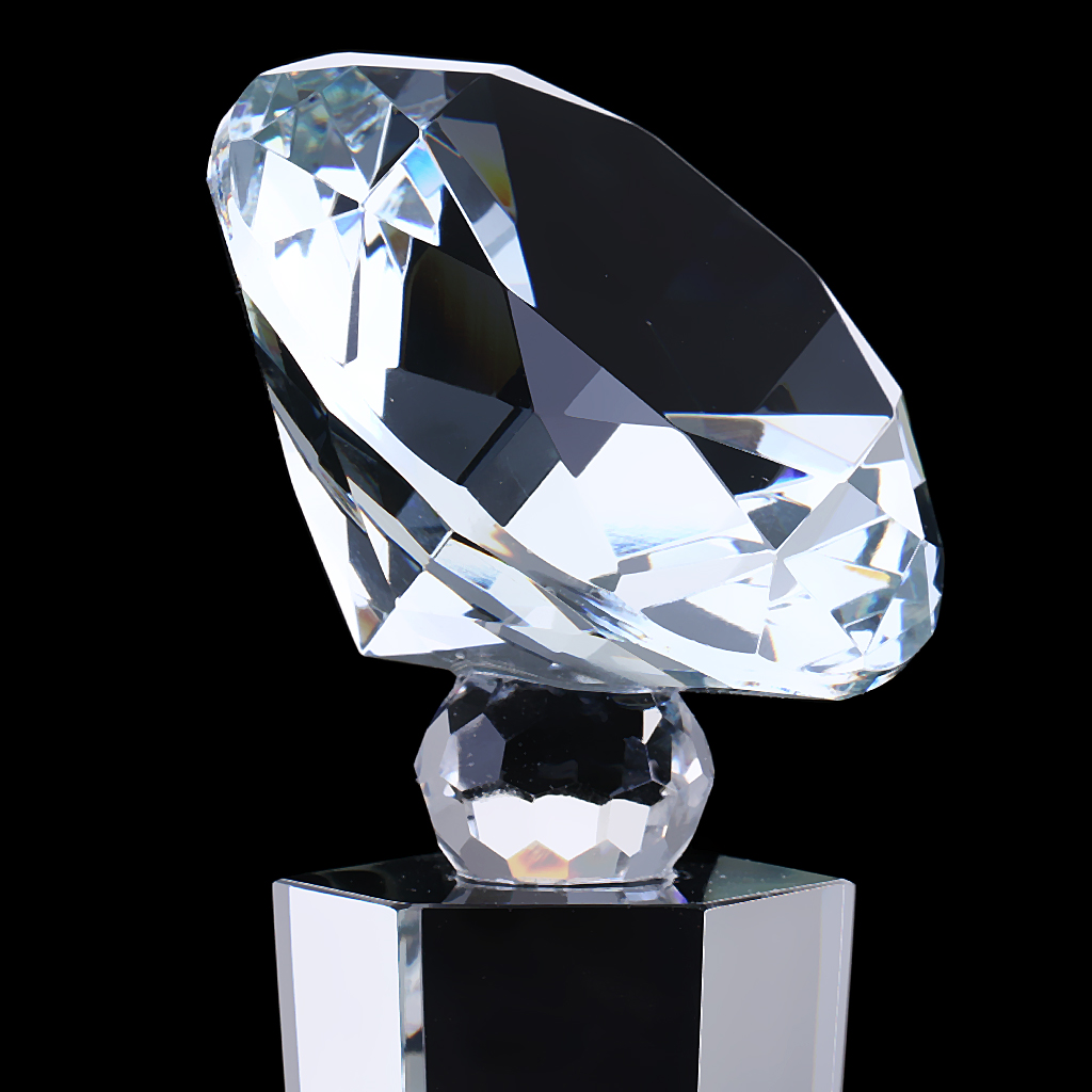 1Pc Sports Competition Award Crystal Trophy Cup Top Diamond 29cm Tall Decor