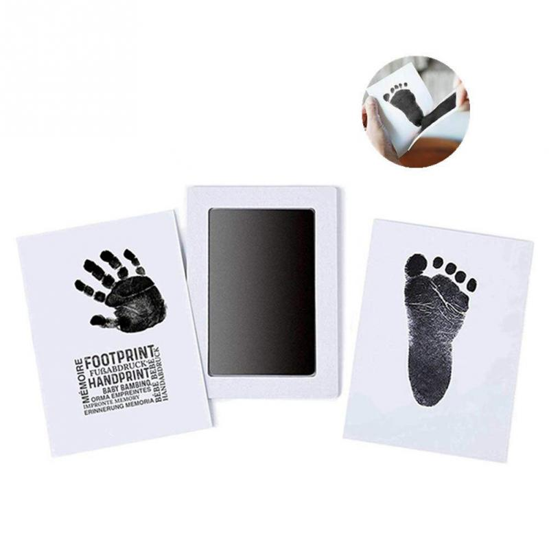 Baby Handprint Footprint Imprint Kit Baby Care Non Toxic Baby Souvenirs Casting Newborn Footprint Inkpad Baby Clay Toy Gifts
