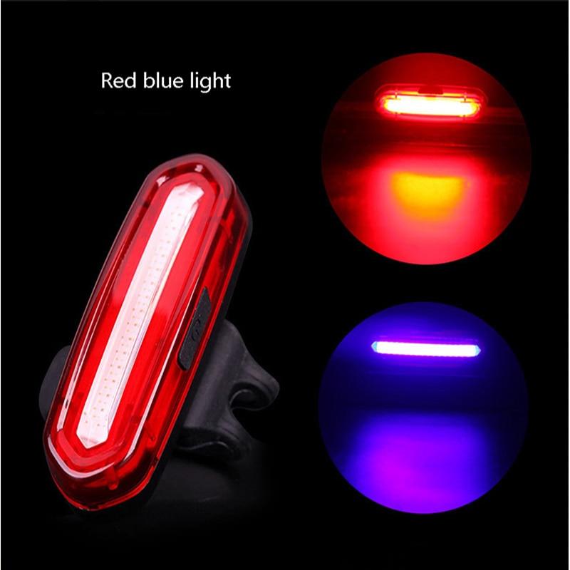 Waterproof Bike Bicycle Light LED Taillight Rear Tail Safety Warning Waterproof Light USB Rechargeable Night Riding Bike Lights