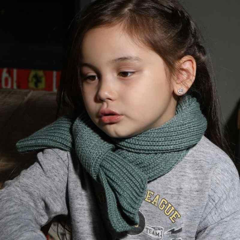 Baby Kids Knit Scarf Children Girls Boys Knitted Wool Kids Winter Warm Scarf US