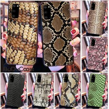Kenzoe Pink Leather Snake Phone Case for Samsung S20 plus Ultra S6 S7 edge S8 S9 plus S10 5G image