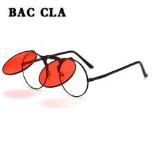 BAC CLA Steampunk Sunglasses Round Metal Women Style Retro F