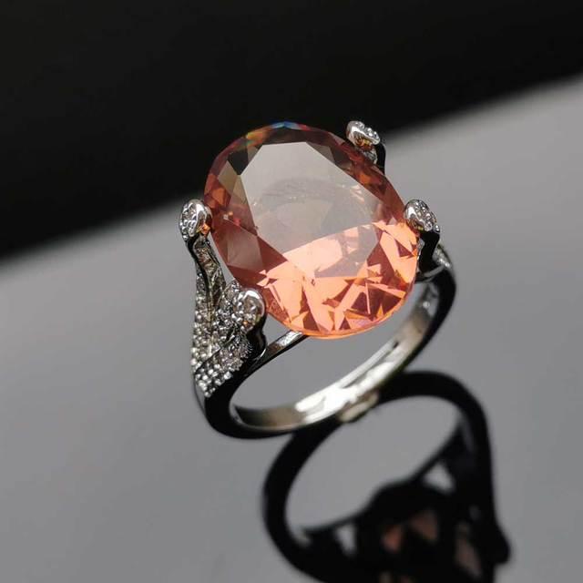 Фото женские кольца из стерлингового серебра 925 пробы ffgems с большим