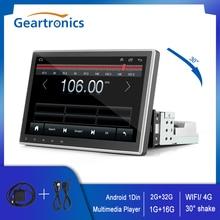 Lettore multimediale Android per Auto universale 1Din 4G/WIFI 10 pollici 1G + 16G/ 2G + 32G schermo ruotabile GPS Bluetooth HD lettore Radio automatico
