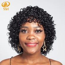 SSH Short Human Hair Wigs Non-Remy Loose Deep For Women 100% Machine