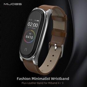 Image 2 - Mi Band 5 Cinghia per Xiaomi Mi Banda 4 Braccialetto Genuino Cinturino In Pelle per Xiao Mi Miband 3 NFC Accessorio miband 5 Cinturino Da Polso