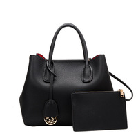 Top quality designer brand new genuine leather large casual Platinum women handbag with pouch luxury shoulder bag tote purse Y02