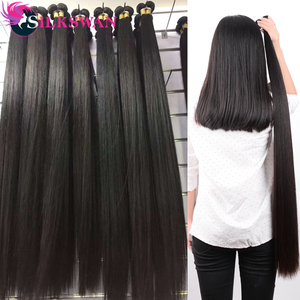 Silkswan Hair 5/10 pcs Bundles Brazilian Remy Hair Bundles Wholesale 28 30 32 34 36 38 40 Inches Bundles Human Hair Extensions