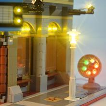 Совместим с 10232 кинотеатром уличный вид светодиодный осветительный строительный блок DIY аксессуары осветительный монтаж светодиодный строительный блок