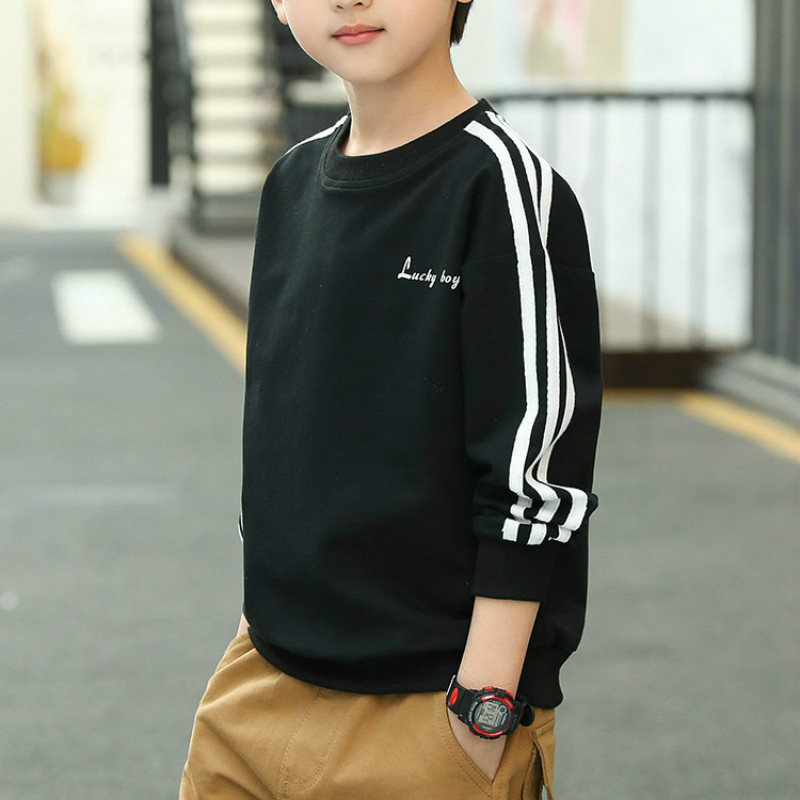Children's wear boy's thin medium big children's long sleeve T-shirt children's Sweatshirt 2020 boy long sleeve T shirt title=
