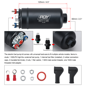 Image 5 - WLR RACING   EFI 380LPH 1000HP TOP QUALITY External Fuel Pump E85 Compatible 044 style New WLR FPB003 QY