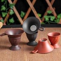 Yixing criativo roxo argila filtro de chá chá chahai filtro de chá conjunto de chá acessórios café soco filtro chá conjuntos kichen ferramenta|Filtros de chá| |  -