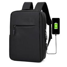 Mochila clásica informal para ordenador portátil para hombre, morral escolar de viaje a la moda, bolso de hombro para chicos