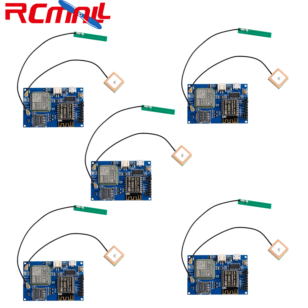 5Pcs/lot ESP8266 ESP-12S A9G GSM GPRS+GPS Module Node V1.0  IOT Development Board WiFi+Cellular+GPS Tracking All In One