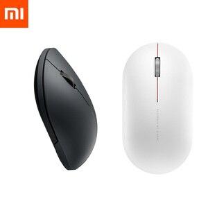 Image 1 - Mouse Wireless Xiaomi originale 2 1000DPI 2.4GHz /Bluetooth muto ottico portatile leggero Mini Laptop Notebook Office Gaming Mouse