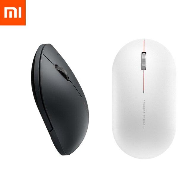 Оригинальная беспроводная мышь Xiaomi 2 1000 точек/дюйм 2,4 ГГц/Bluetooth оптическая Бесшумная портативная легкая мини мышь для ноутбука офисная игровая мышь