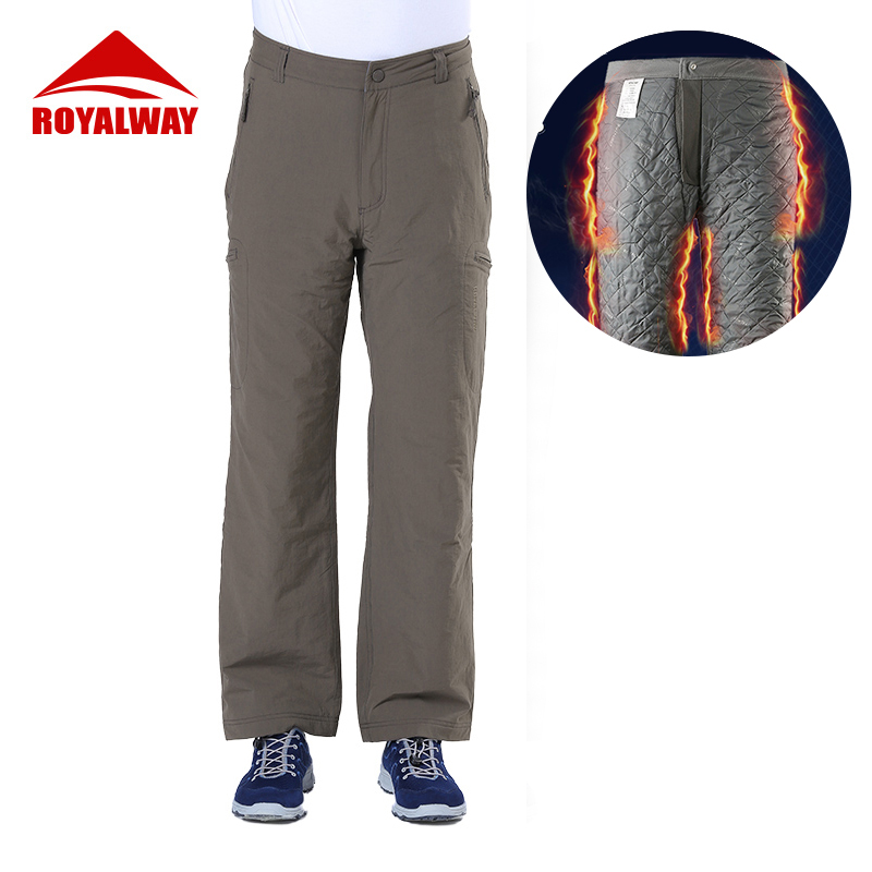 ROYALWAY Winter Warm Camping Hiking Pants Men Outdoor Travel Severe Cold Brave Bit Warm Pants Waterproof Male RPM276C