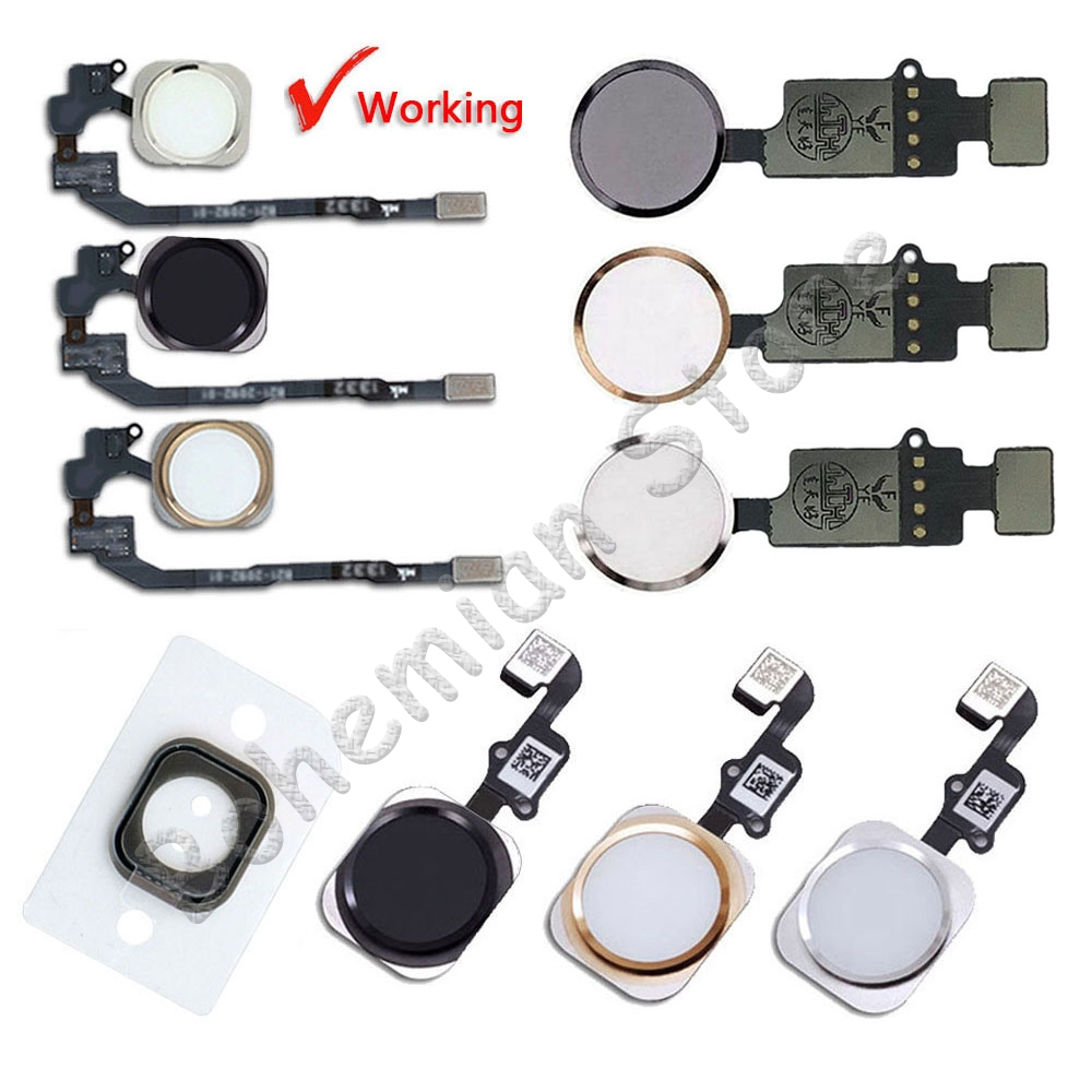 Aiinant Original Home Button Flex For IPhone 6 6s 7 8 Plus 5s SE 6G 7G 8G Home Button With Flex Cable No Fingerprint Repair Part