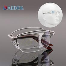 2019 Ultralight Progressive Bifocal Reading Glasses Multifocal Men Women Flexible Foldable Anti-blue Light presbyopic glasses