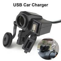 De la motocicleta 12V USB encendedor de cigarrillos Socket impermeable a prueba de polvo del teléfono móvil fuente de alimentación del adaptador del cargador de para los coches Scooters 2.1A