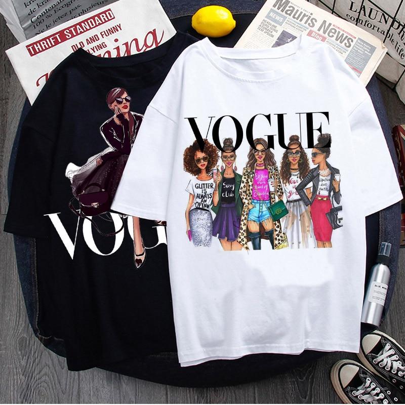 Vogue Princess Kawaii Harajuku T Shirt Women Ullzang Cute T-shirt grunge aesthetic Graphic Tshirt 90s Fashion Top Tees Female