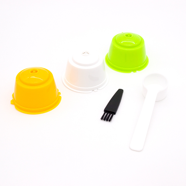 3 Pcs Reusable Coffee Capsule Filter Cup for Nescafe Dolce Gusto