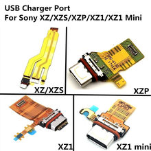 5 Pcs Usb-poort Opladen Board Voor Sony Xperia Xz/Xzs/Xz Premium XZ1/XZ1 Compact Mini oplader Dock Connector Module Flex Kabel(China)