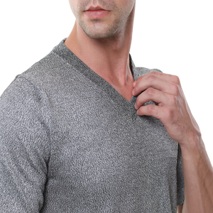 Image 5 - EN388 PE material level 4 cut proof wear slash resistant V T shirt anti cut shirt.